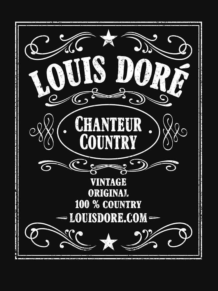 «LOUIS DORÉ CHANTEUR COUNTRY LOGO WHISKY BLANC» par LouisDore