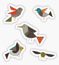 just birds dark Sticker