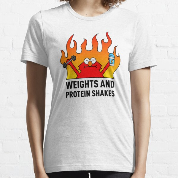 Weights and Protein Shakes Essential T-Shirt