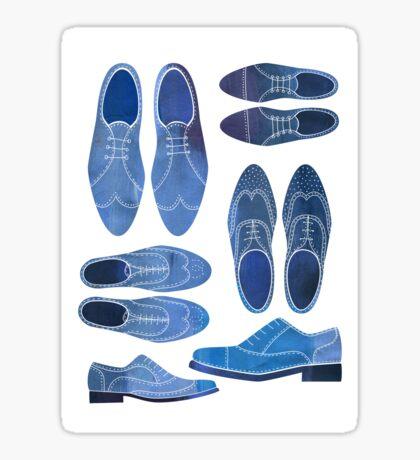 Blue Brogue Shoes Sticker