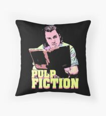Vincent Vega Black Light Throw Pillow