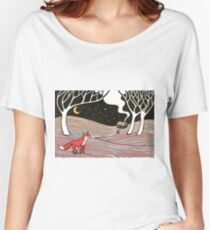 Stargazing - Fox in the Night Women's Relaxed Fit T-Shirt