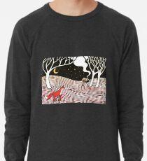Stargazing - Fox in the Night - original linocut by Francesca Whetnall Lightweight Sweatshirt