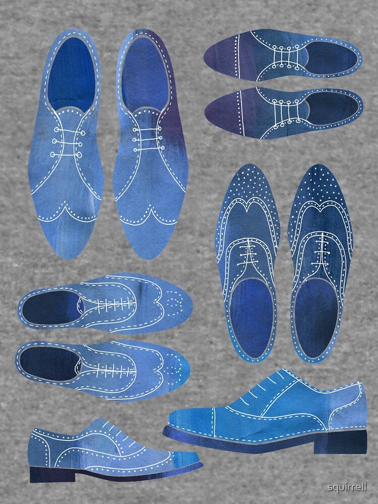Blue Brogue Shoes by squirrell