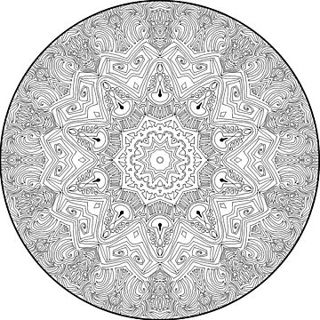 Black and White Mandala by SynicalShirts