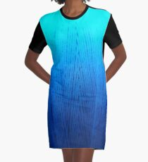 Ombre Graphic T-Shirt Dress