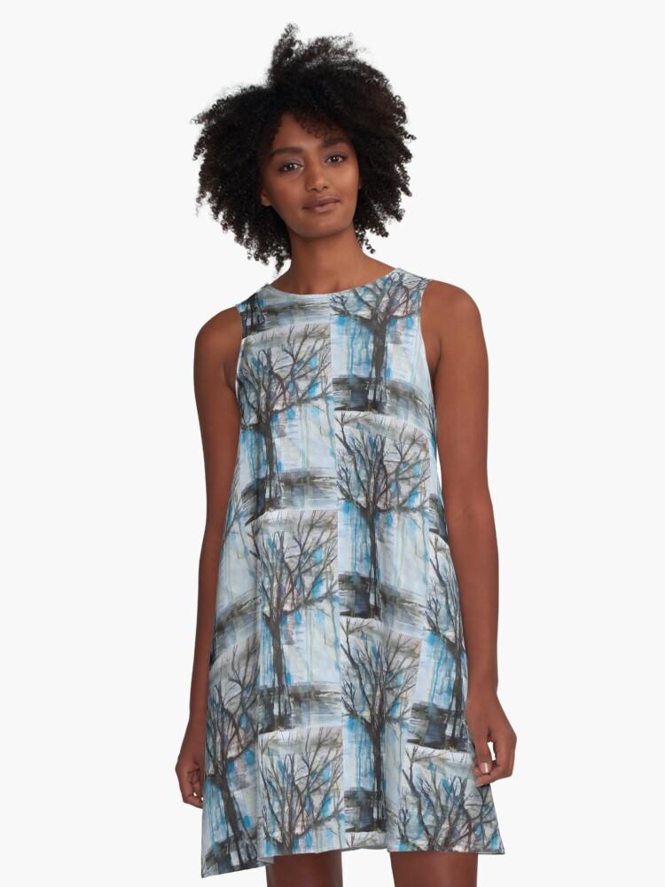 Rain Tree A-Line Dress Front