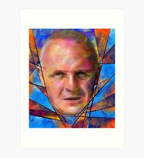 Kinsignium - portrait of Anthony Hopkins Art Print
