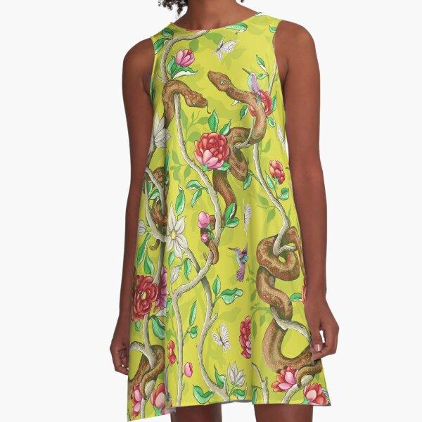 Morning Song - mustard A-Line Dress