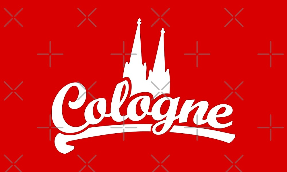 Cologne Classic with Cologne Cathedral (white) by theshirtshops