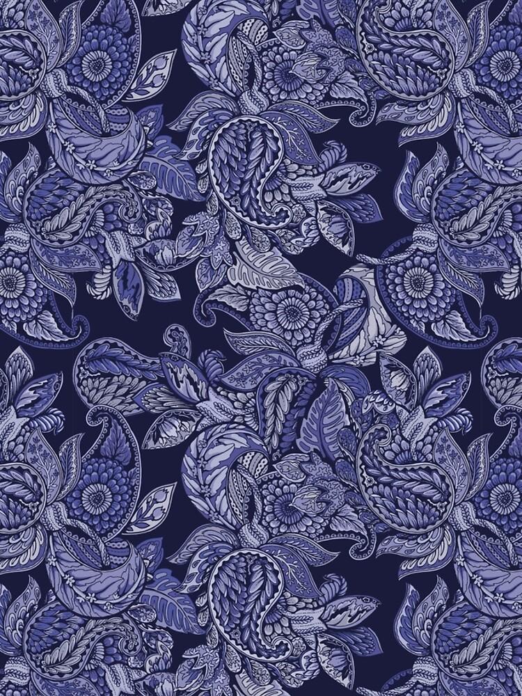 Paisley Dream - indigo by celandinestern