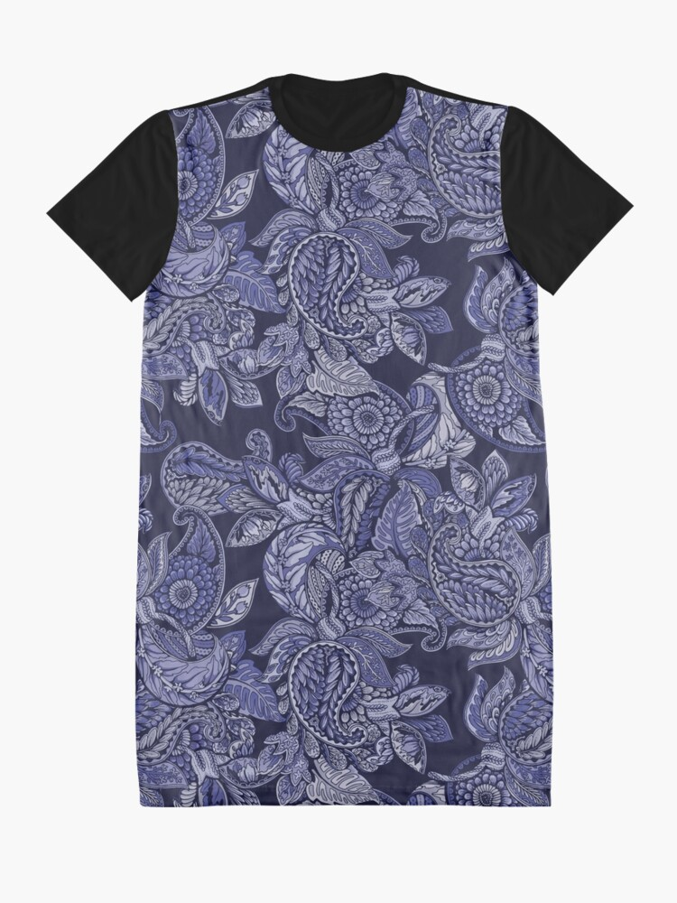 Alternate view of Paisley Dream - indigo Graphic T-Shirt Dress