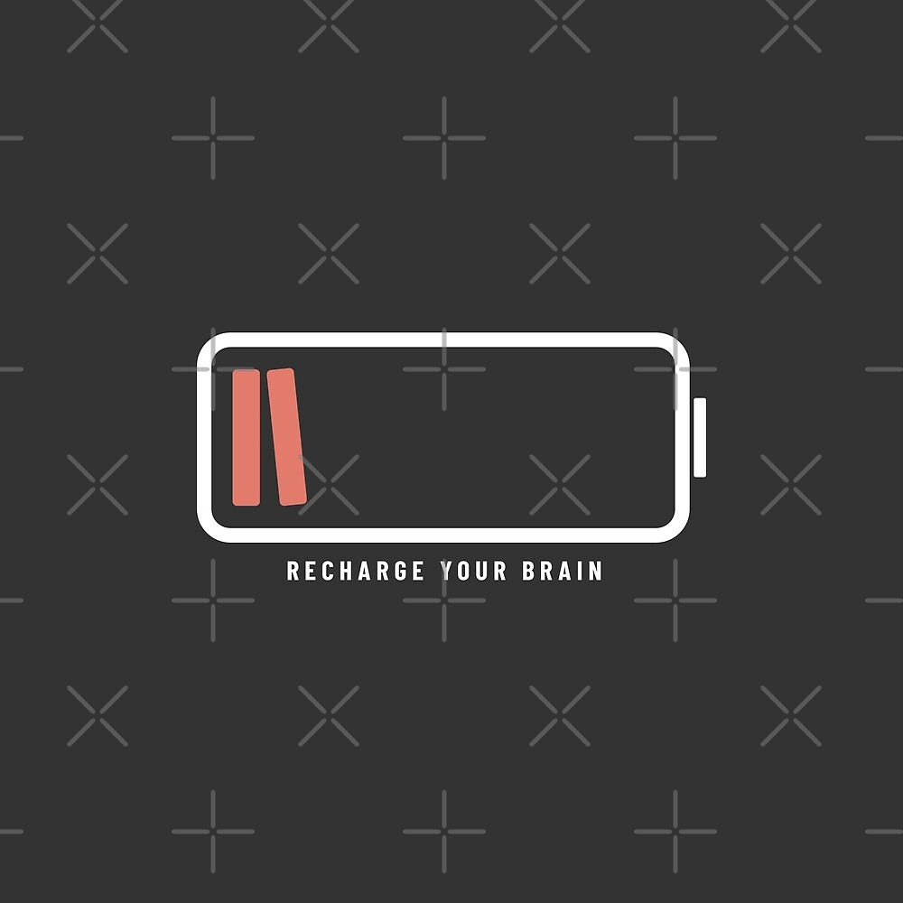 Recharge Your Brain with Books (Charcoal Edition) by Piotr Kowalczyk