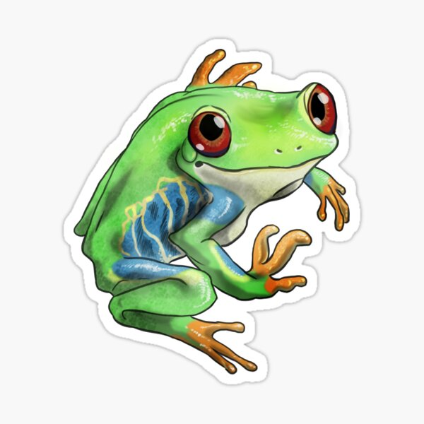Red-eyed treefrog Sticker