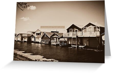 Canandaigua Lake Boat Houses by normalouise