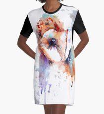 Barn Owl Graphic T-Shirt Dress