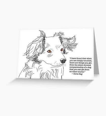 Companionship of a Dog Greeting Card