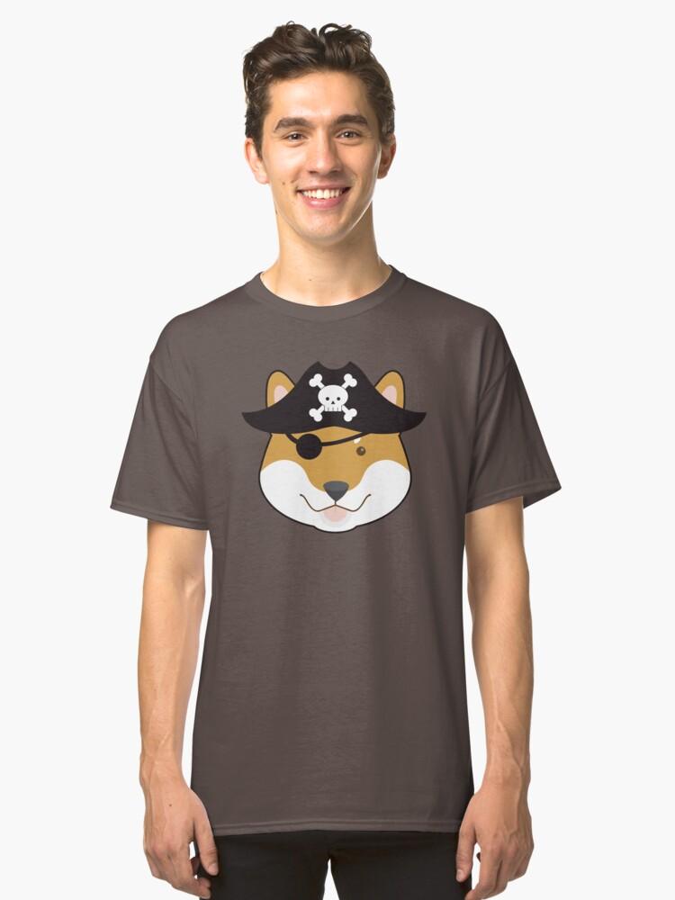 Pirate Doge Shiba Inu T Shirt Classic T-Shirt Front