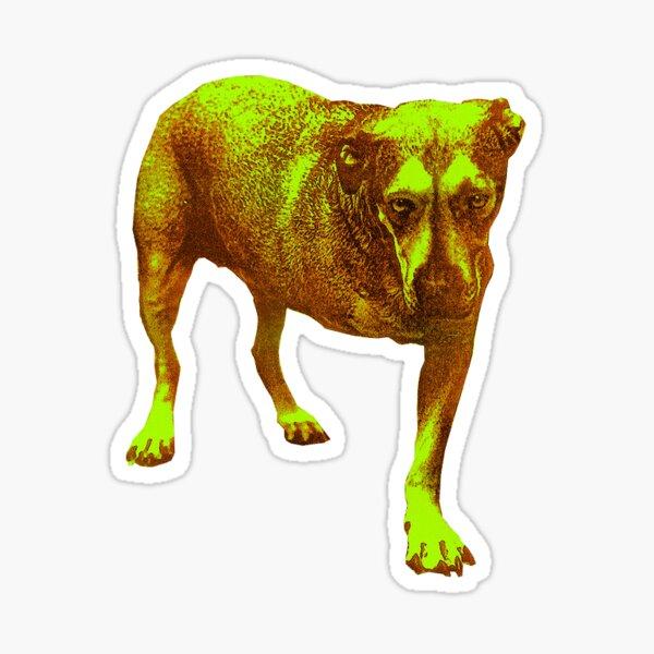 AIC Tripod Dog Grunge Rock n Roll Sticker