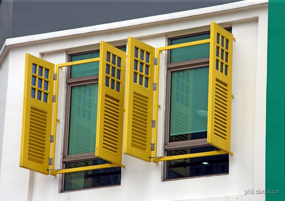 Yellow Frame And Shutters by phil decocco