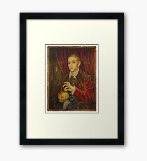 Boy With Apple Framed Print