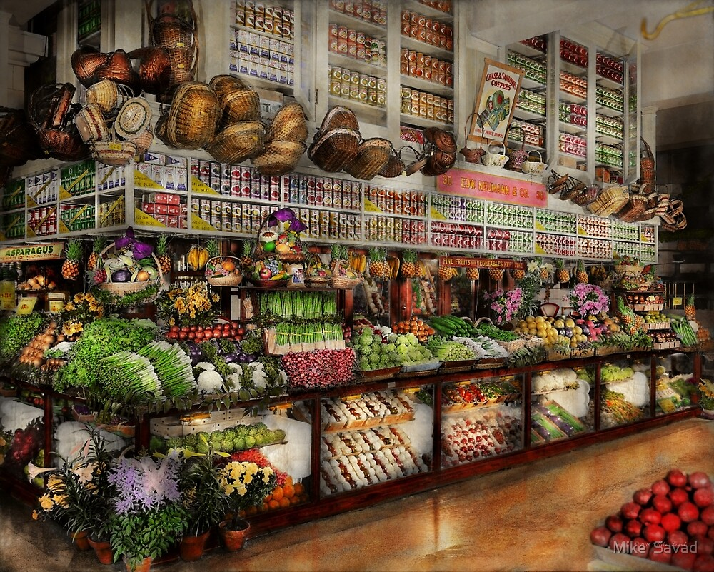 Grocery - Edward Neuman - The produce section 1905 by Michael Savad