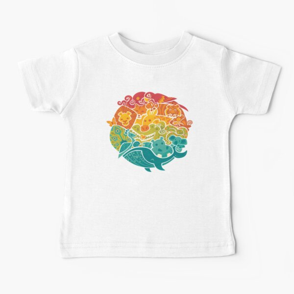 Animal Rainbow - cream Baby T-Shirt