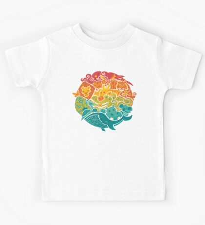 Animal Rainbow - cream Kids Clothes