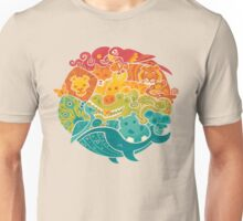 Animal Rainbow - cream Unisex T-Shirt