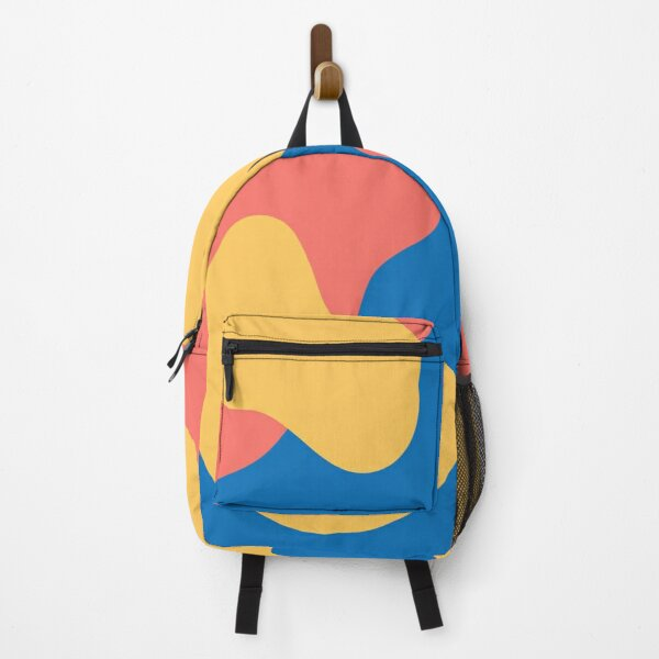 Tropical Blobs (Blue, Coral, Yellow) Backpack