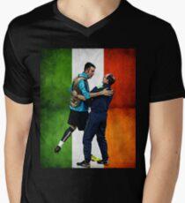 Martin O'Neill & Gigi Buffon Men's V-Neck T-Shirt