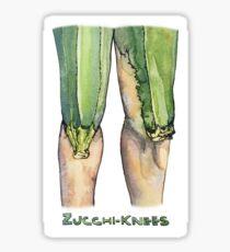 Zucchi-knees Pun Painting Sticker