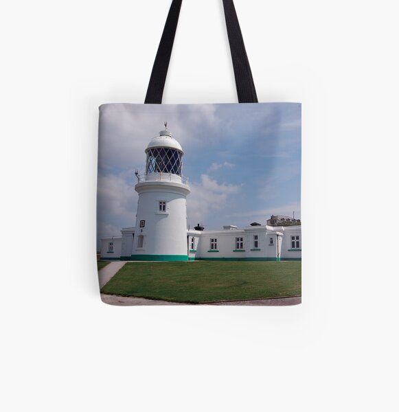 Pendeen Lighthouse, Cornwall All Over Print Tote Bag