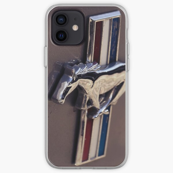 ford mustang, mustang macro logo Coque souple iPhone