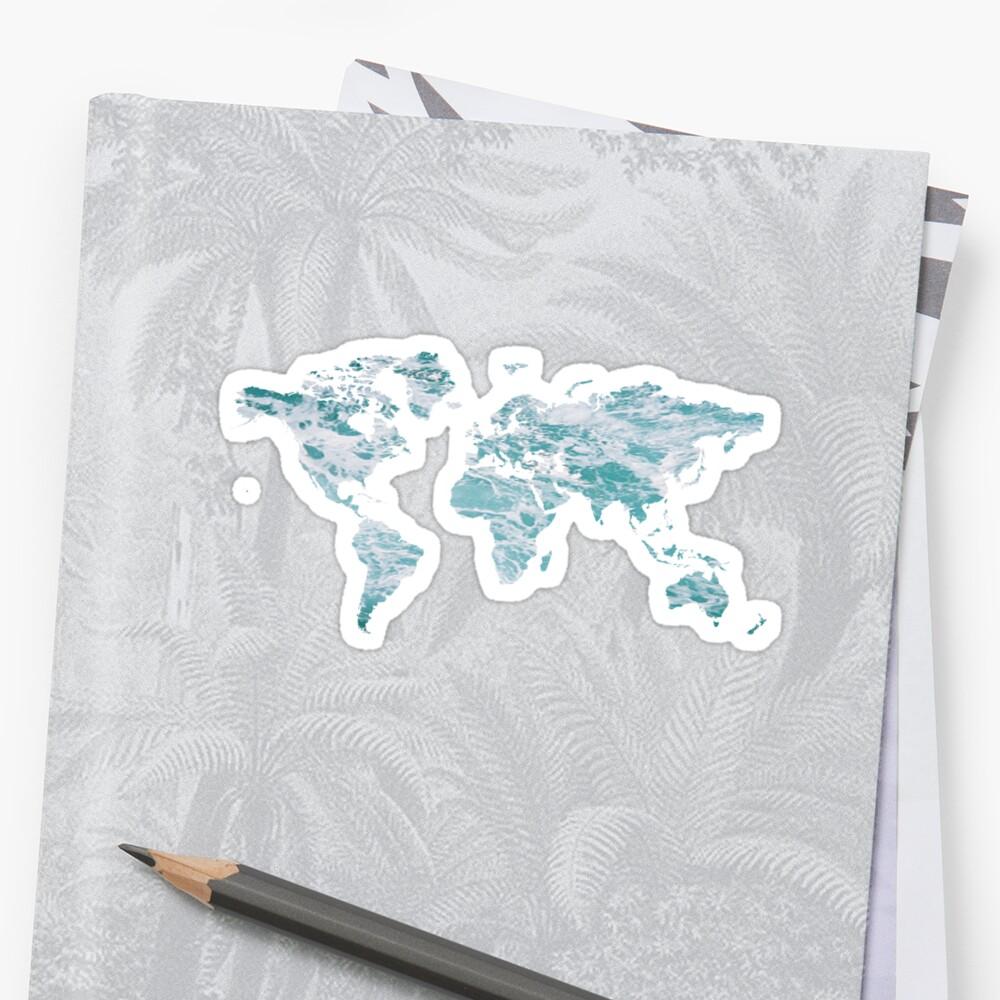 World Map - Water by Talia Faigen