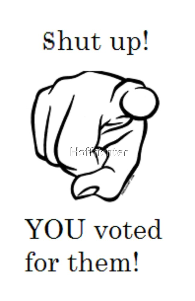 You voted for them! by Hoffrichter