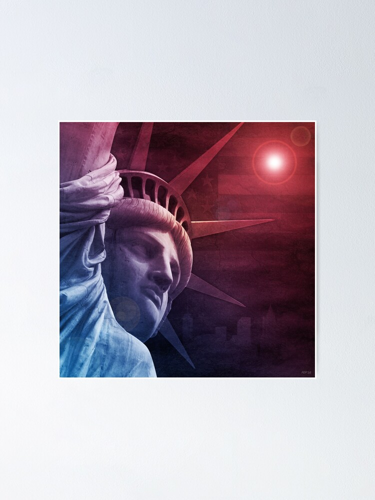 Alternate view of Patriotic Statue of Liberty Poster