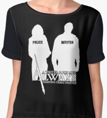 Castle ABC Always Writer & His Muse Women's Chiffon Top