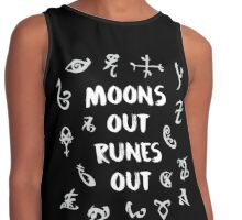 moons out runes out Contrast Tank