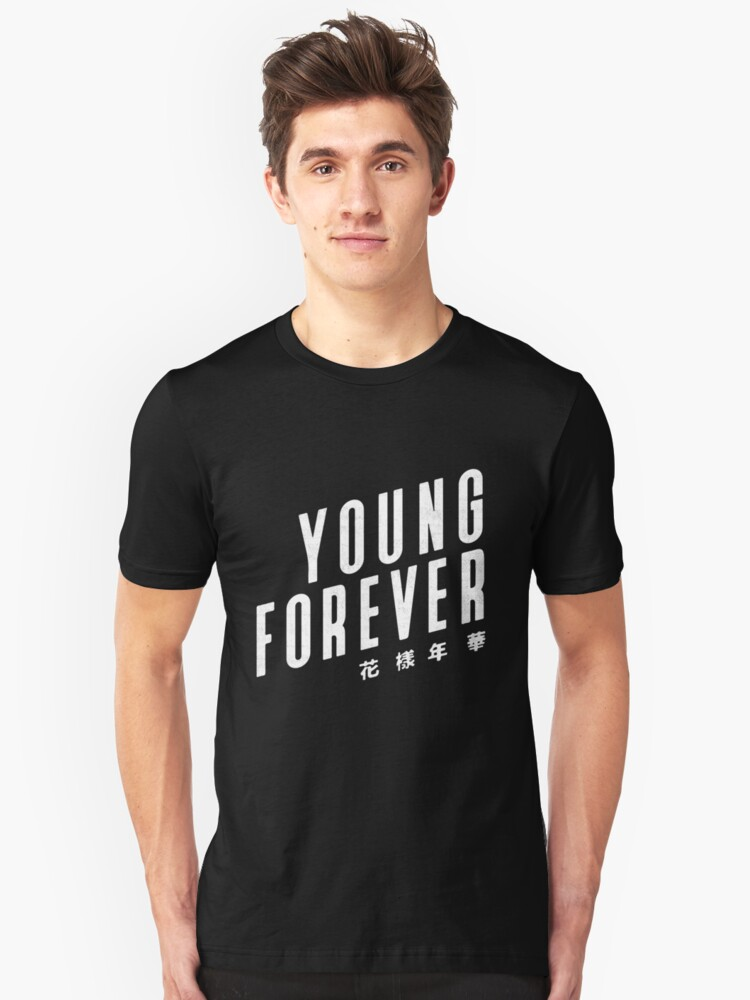 BTS / YOUNG FOREVER / B&W Unisex T-Shirt Front