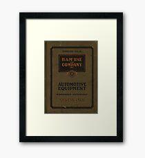 Vintage automotive catalog Framed Print