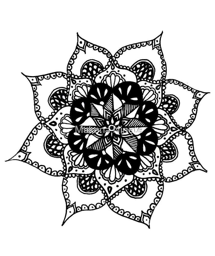 Flower Mandala Design by Makena Ninete