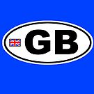 GB - GREAT BRITAIN - BUMPER STICKER by Calgacus