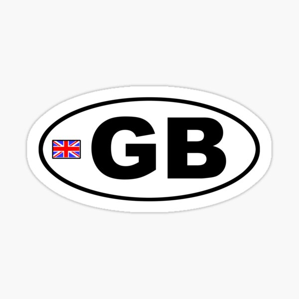 GB - GREAT BRITAIN - BUMPER STICKER Sticker