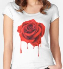 Painting the Roses Red Women's Fitted Scoop T-Shirt