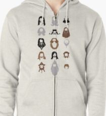 The Bearded Company Zipped Hoodie