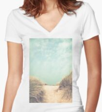 The way to the beach Women's Fitted V-Neck T-Shirt