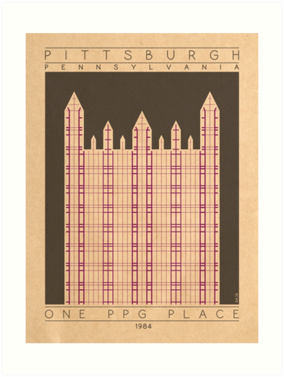 One PPG Place - 1984 (Purple) by HendersonGDI