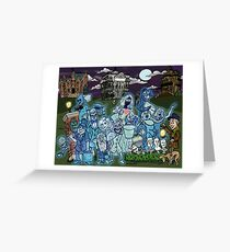 Grim Grinning Ghosts Greeting Card