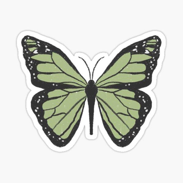 cute dainty sage green indie butterfly  Sticker
